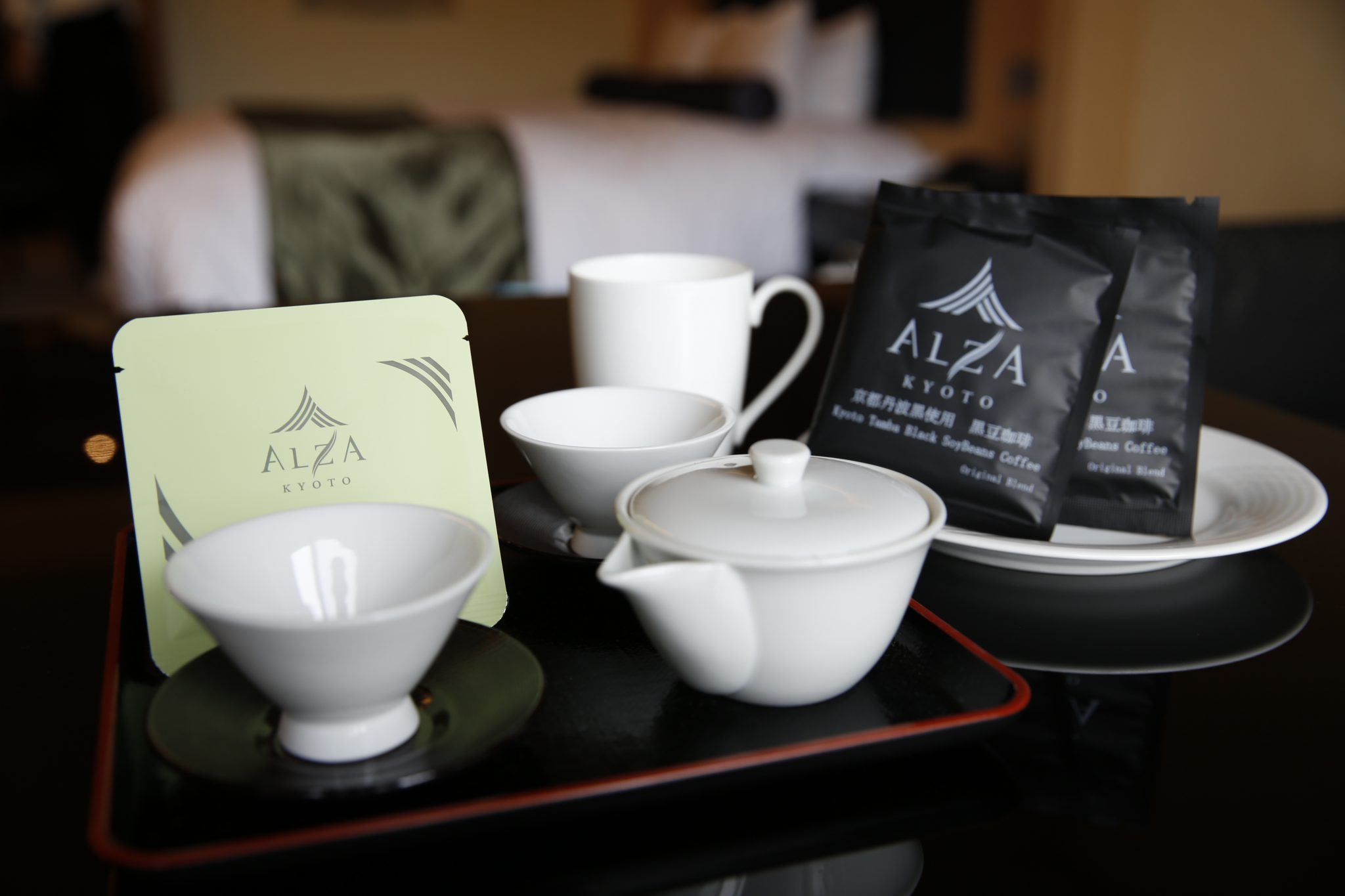 Welcome coffee and carefully selected tea from Kyoto.
